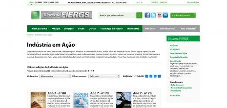 Exibe as edições da revista da FIERGS