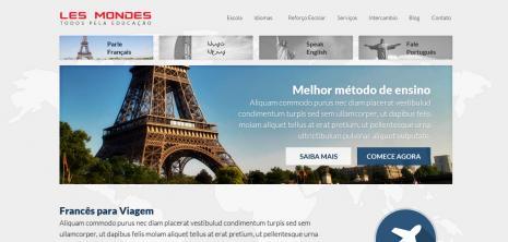 Proposta de layout de um idioma aprovada pela Les Mondes