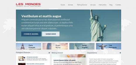 Proposta de layout da Home aprovada pela Les Mondes